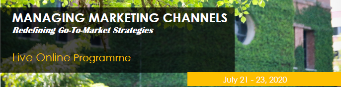 Managing Marketing Channels - Live Online