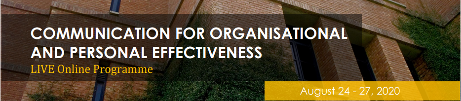 Communication for Organisational and Personal Effectiveness - Live Online