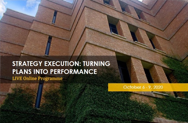 Strategy Execution: Turning Plans into Performance - Live Online