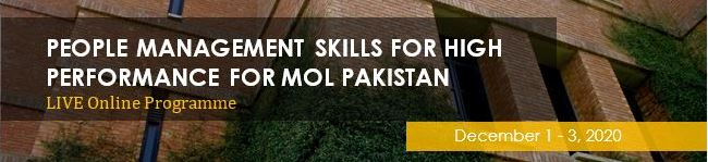 People Management Skills for High Performance for MOL Pakistan - Live Online
