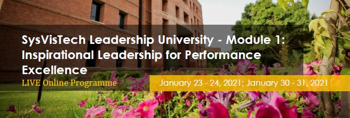 SysVisTech Leadership University - Module 1: Inspirational Leadership for Performance Excellence - Live Online
