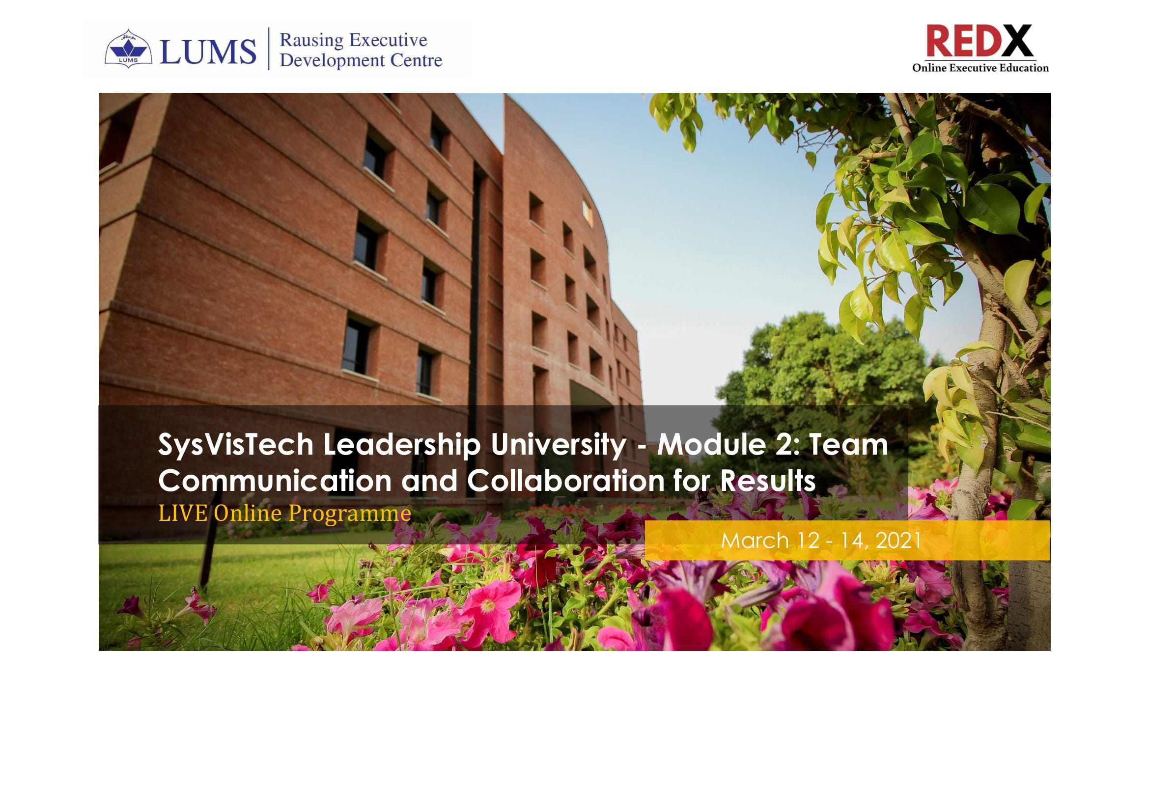SysVisTech Leadership University - Module 2: Team Communication and Collaboration for Results